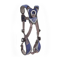 1113040 Harness with aluminum Tech-Lite front and back D-rings and locking Duo-Lok quick connect buckles.