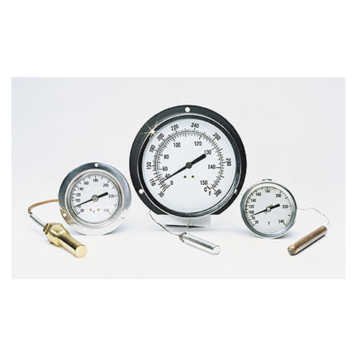 Vapor actuated thermometers