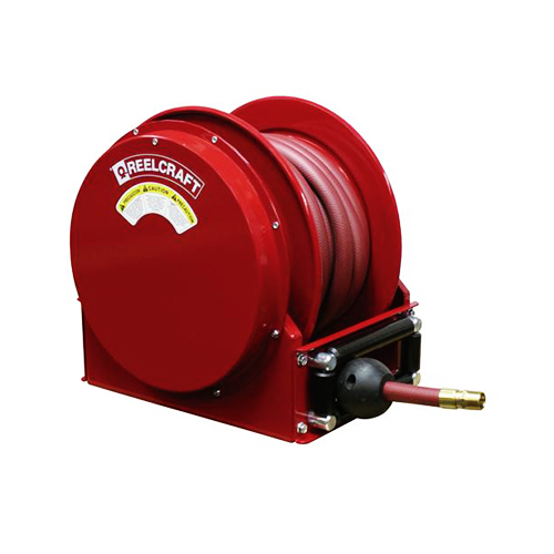 "Low profile hose reels (series sd10000) series sd10000 - 3/4"", 1"" i.d. spring driven air/water/oil/vacuum recovery"