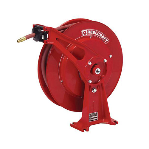 "Vehicle-mount hose reels (series d8000 & e8000)   series d8000 & e8000 - 1/4"", 3/8"", 1/2"" i.d. spring driven air / water / oil / grease"
