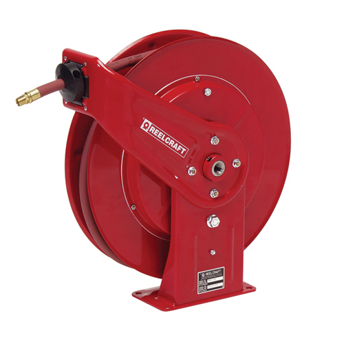 "Heavy duty spring retractable hose reels (series 7000)  series 7000 - 1/4"", 3/8"", 1/2"", 3/4"" i.d spring driven air / water / oil / grease"