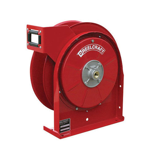 "Premium duty spring retractable hose reels (series 4000 / 5000)    series 4000 & 5000 - 1/4"", 3/8"", 1/2"" i.d spring driven air / water / oil / grease"
