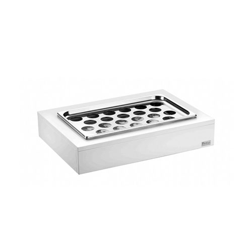 Double refrigerated trays with cover for eggs & vegetables 51132830