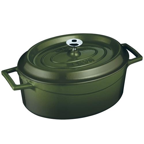 Cast iron oval casserole - lv o tc 25 k2 bl