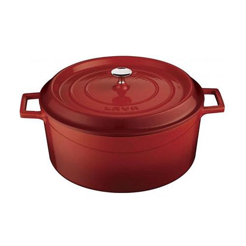 Cast iron round deep casserole - lv y kz 30 k0