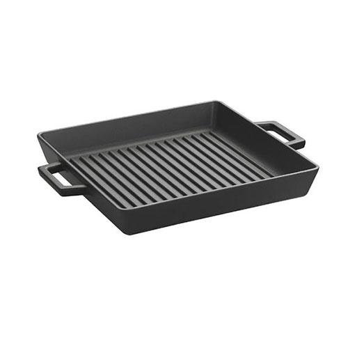 Cast iron grill pan integral metal handles - lv eco gt 2626 t2