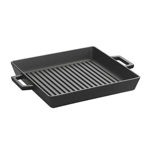 Cast iron grill pan integral metal handles -lv eco gt 2632 t3