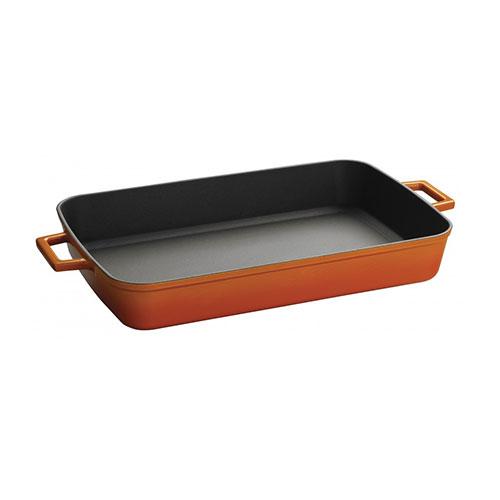 Cast iron rectangular dish - lv p tp 2640 k0 o
