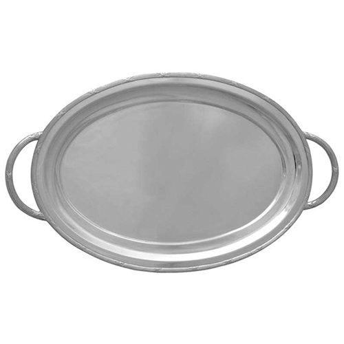 Oval tray w /rim and handle pw01622h-s