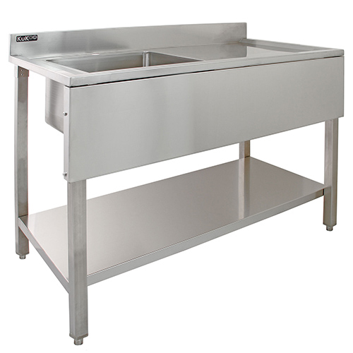 Single bowl sink with r/h drain
