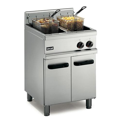 Double gas fryer