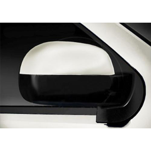 07-13 trucks/suvs rear view mirror upper cover pkg, white 50u gm17800740