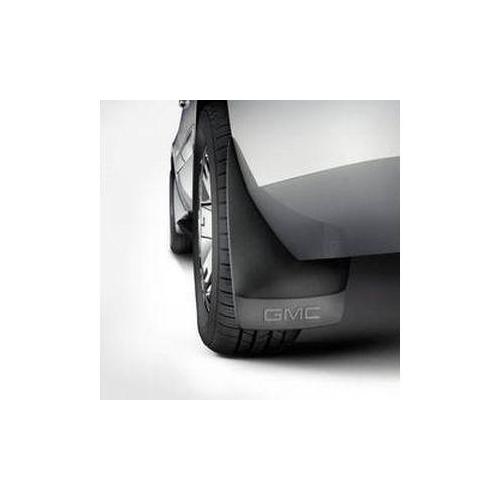 07-13 yukon splash guards rear molded, gmc logo, black grained  gm19212822