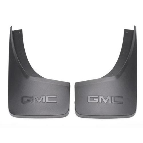 2014+ sierra 1500 splash guards, molded rear, black grained gm22894866