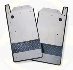 99-16 sir/sil dually defecta-shield custom fit stainless steel mud flaps , rear 925105