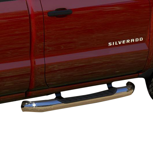2014+ sir/sil double cab assist steps, 4 inch round, chrome gm22805434