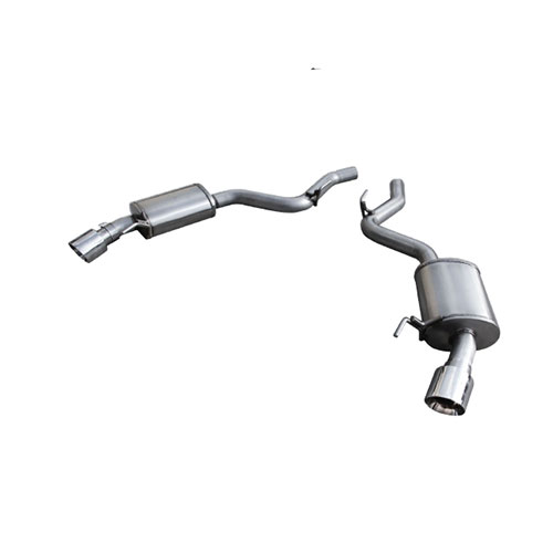 10-13 camaro axle back mufflers (direct fit to long headers system) ca-arh-axbk