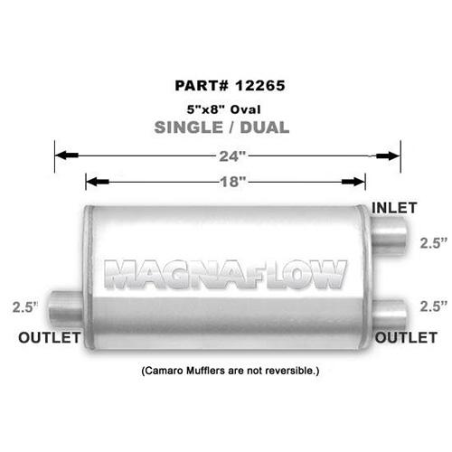 Magnaflow ss muffler 18