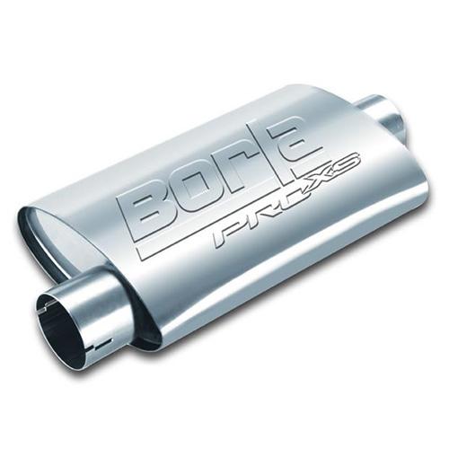Borla oval muffler pro-xs - w/notch 2.5