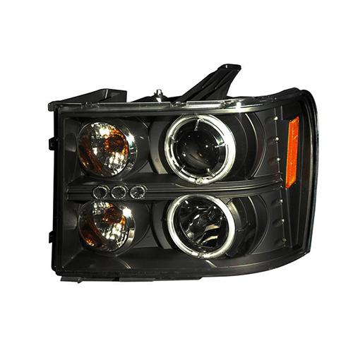 14+ GMC SIERRA PROJECTO HEAD LAMP BLACK  SK3480-GSRA14-YJM_2