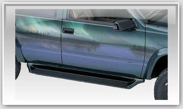 99-13 GM TRUCKS/SUVS LUND SIDE TRACKERS RUNNING BOARDS , POLYMER BLACK 55104_2