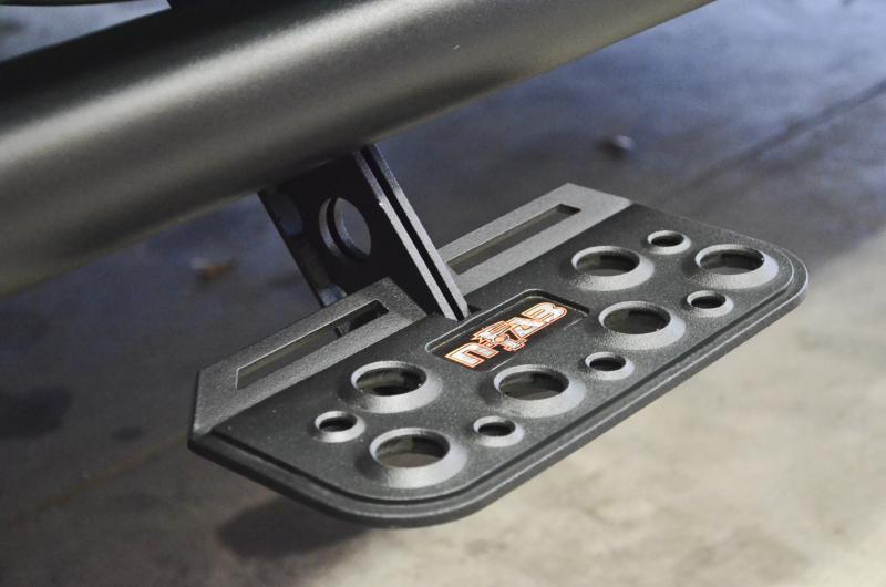 09-13 RAM CREW CAB ,SHORT BED N-FAB TEXTURED BLACK ADJUST STEP NERF STEPS ASD0989CC_2