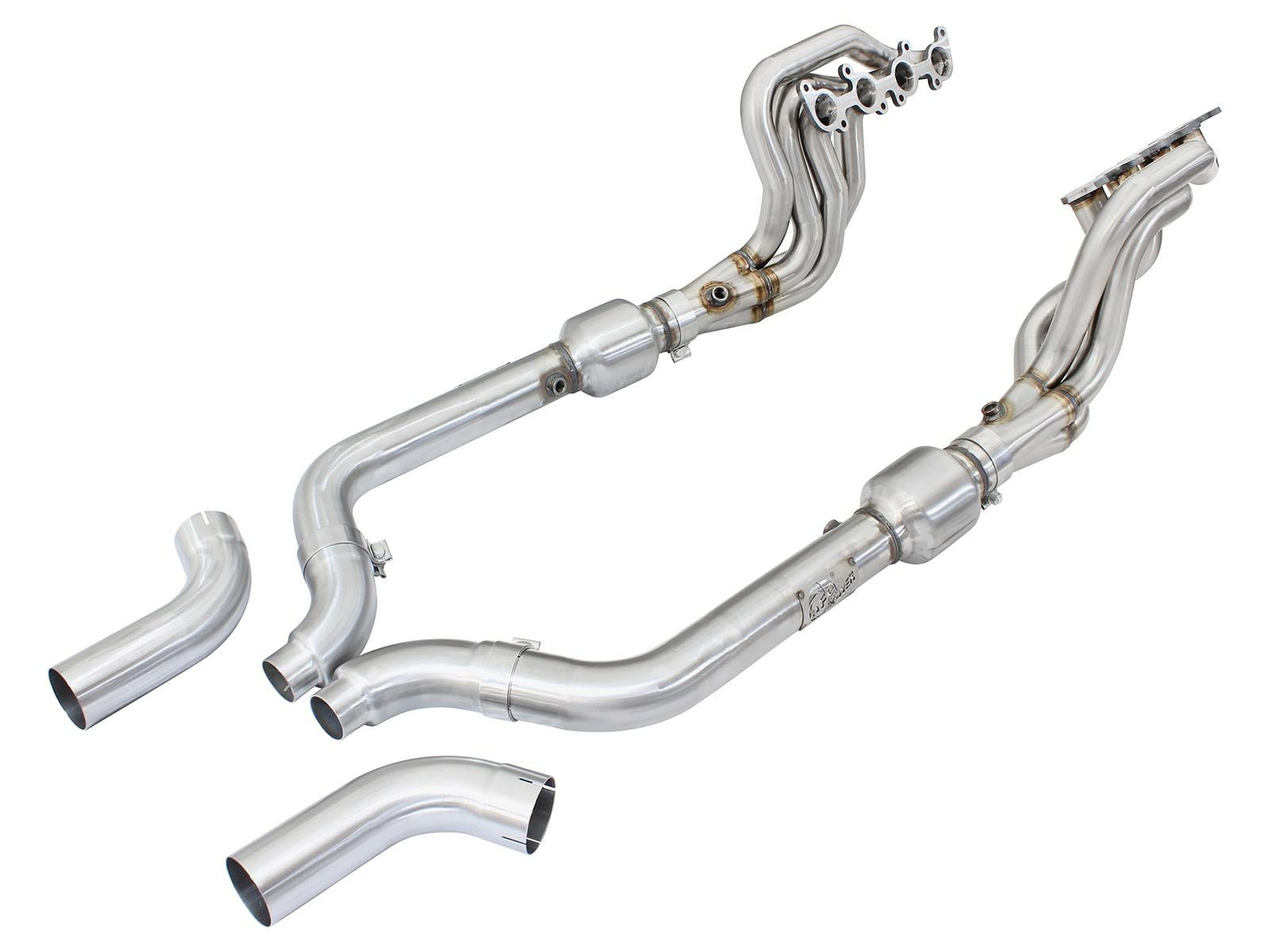 15+ MUSTANG GT V8 AFE PFADT LONG TUBE HEADERS WITH X-PIPE W/CATS48-33012-YC_2
