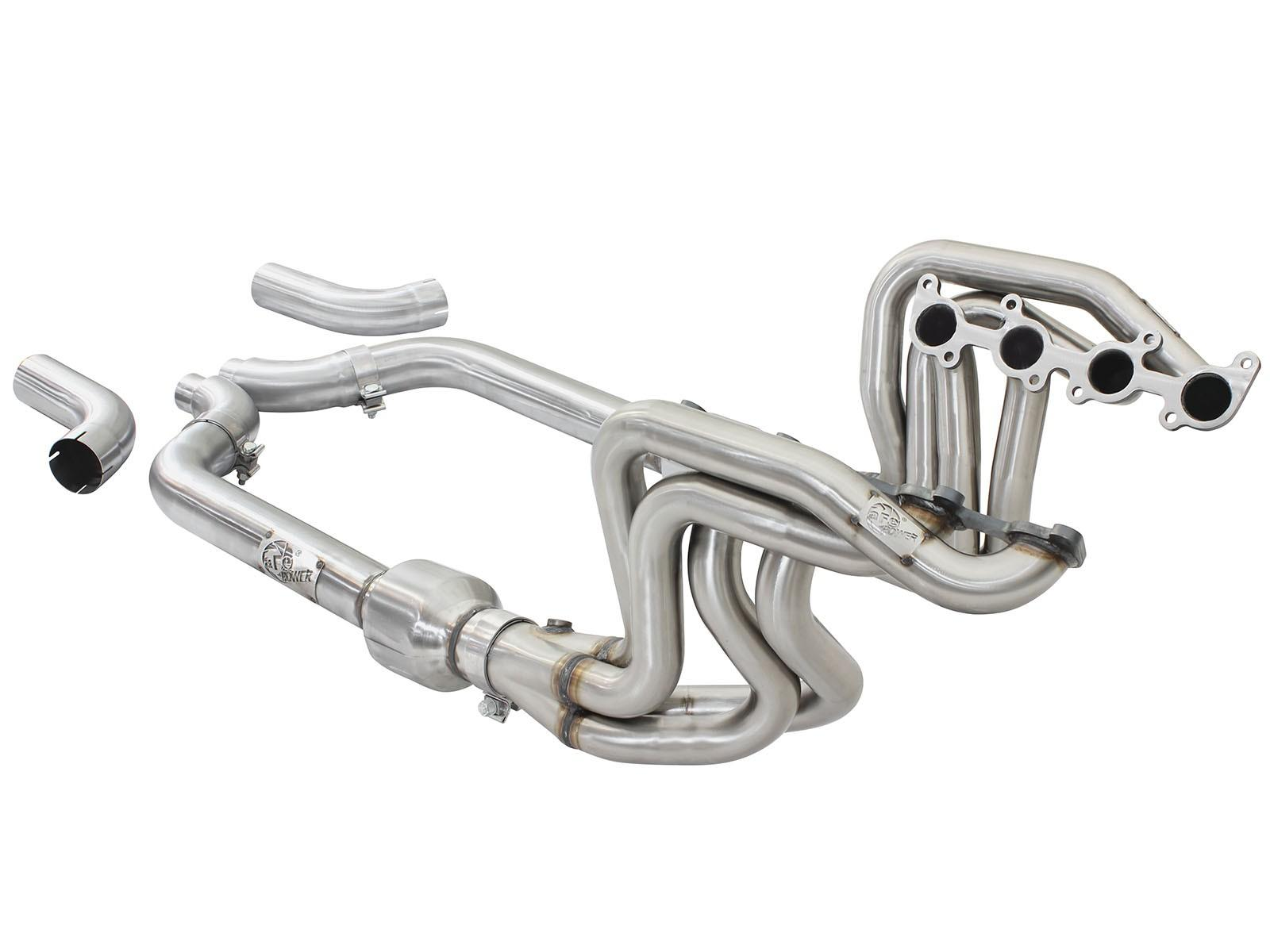 15+ MUSTANG GT V8 AFE PFADT LONG TUBE HEADERS WITH X-PIPE W/CATS48-33012-YC_5