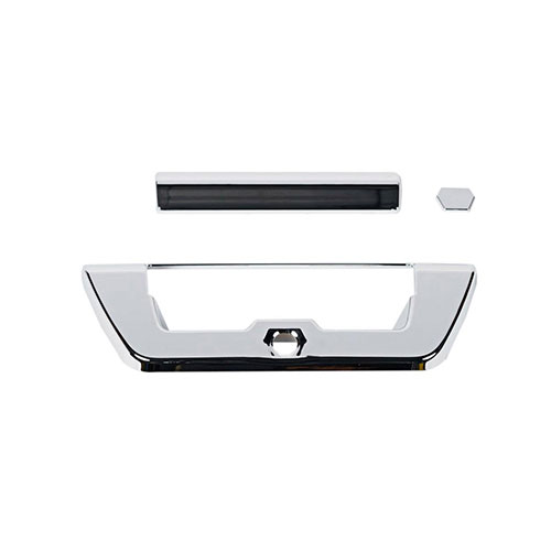14+ sir/sil abs chrome tailgate handle cover w/camera hole bt6165