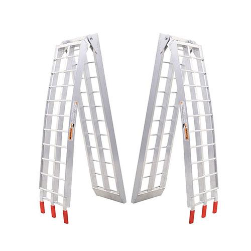 Better built aluminium center folding straight loading ramp 500lb,84x11x2 single 25710005