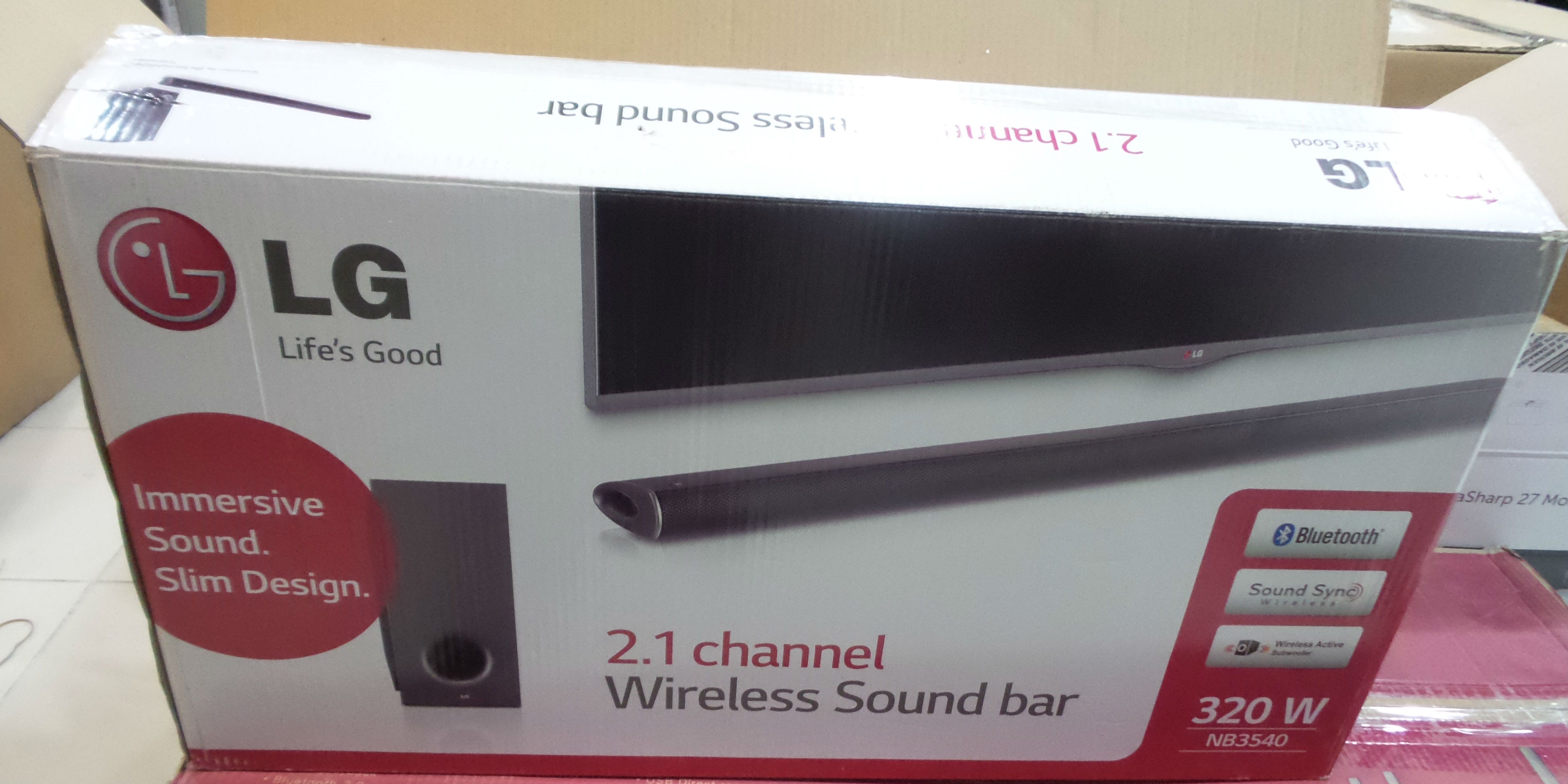 320W 2.1 inch Streaming Sound Bar With Wireless Sub woofer NB 3540_6