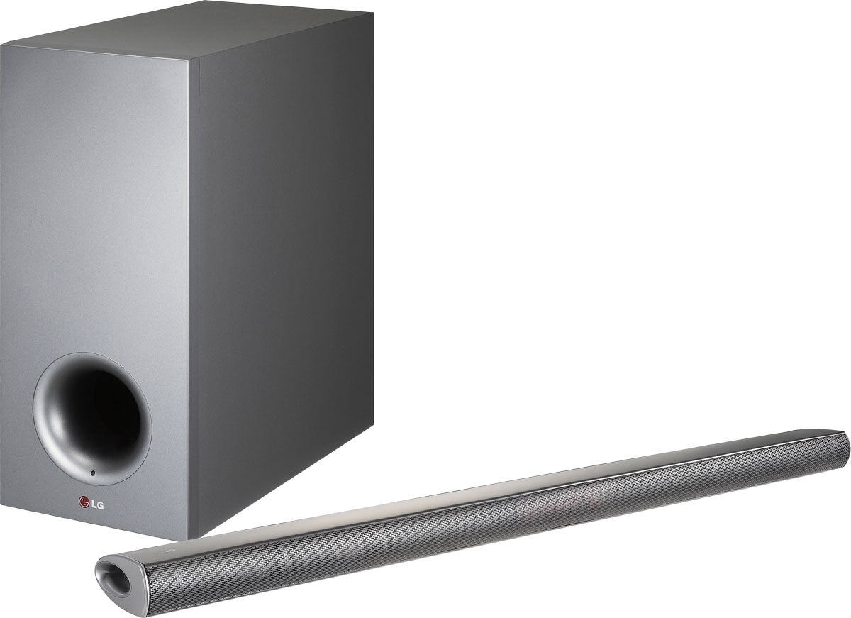 320w 2.1 inch streaming sound bar with wireless sub woofer nb 3540