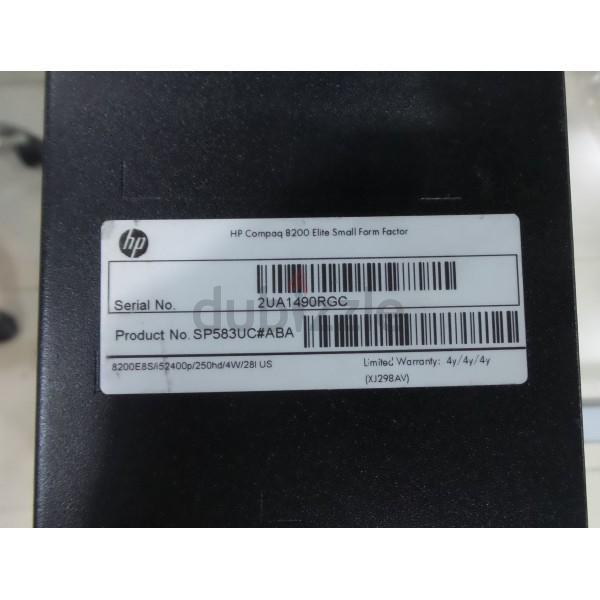 Hp compaq 8200 small form factor