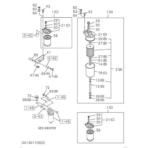 Isuzu 0-91110510-0 Fuel filter nut_2