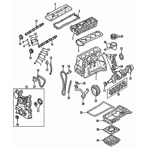 OEM Nissan 10101-8J085 Full Set Gasket_3