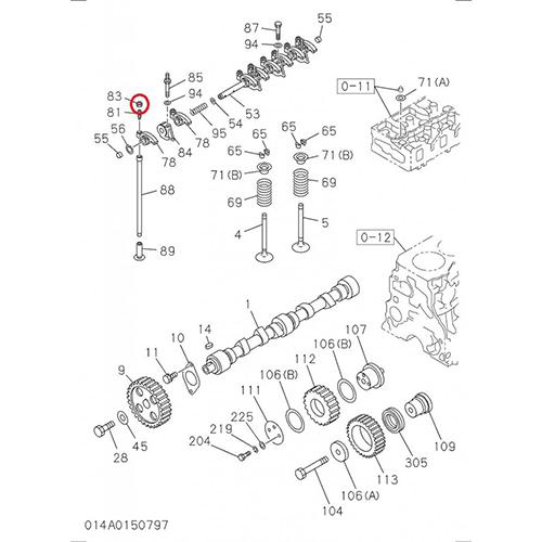 Isuzu 0-91111508-0 adjustable screw nut with lock