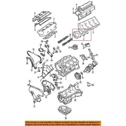 OEM Nissan 11044-2Y900 Cylinder Head Gasket_2