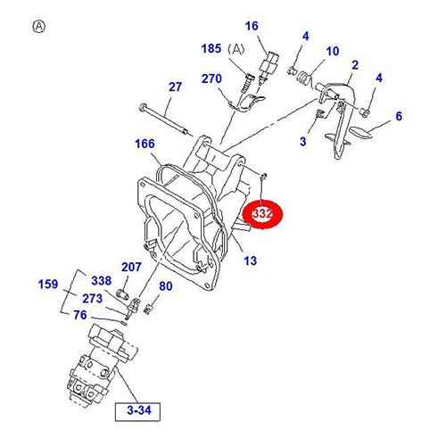 Isuzu 0-91805512-0 ring retainer