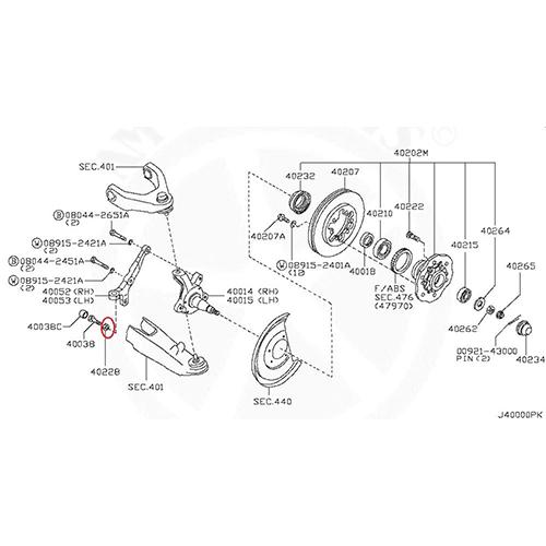 Nissan 01211-00281 nut assy bearing lock