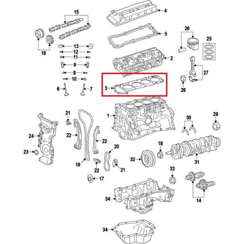 OEM Nissan 11044-3TA0A Head Gasket_2