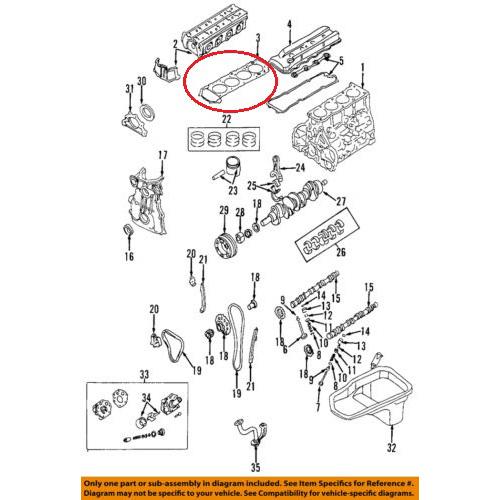 OEM Nissan 11044-70F00 Cylinder Head Gasket_2