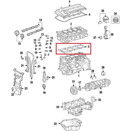 Nissan 11044-ea001 cylinder head gasket