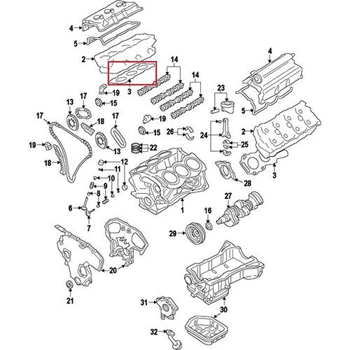 Nissan 11044-EA205 Cylinder Head Gasket_2