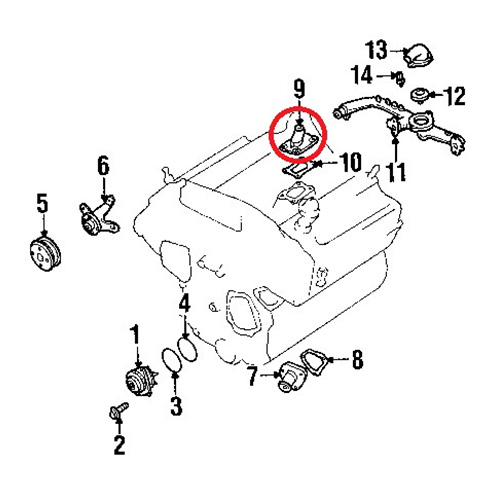 Nissan 11060-4p110 water outlet