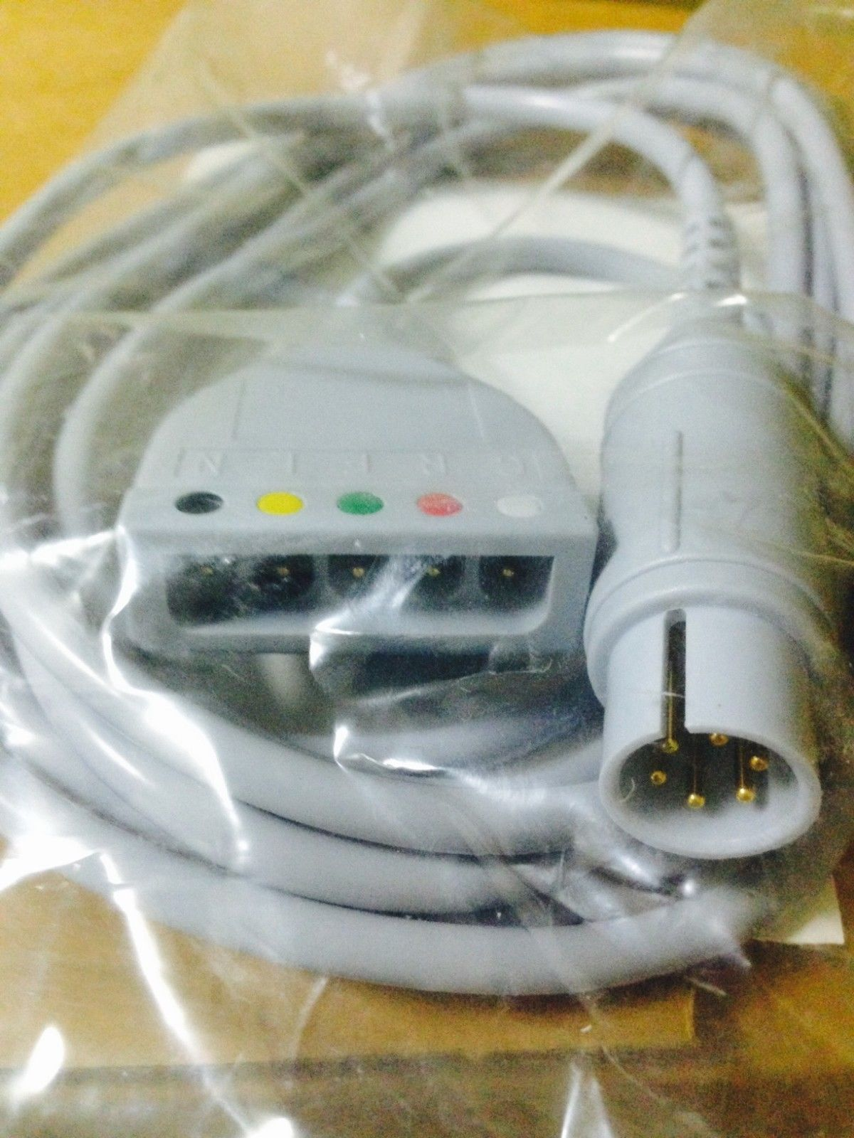 Lot-of-5-cables-of-datascope-0012-00-1255-01-ecg-trunk-cable