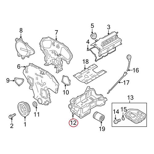 Nissan 11110-1lu0a upper oil pan