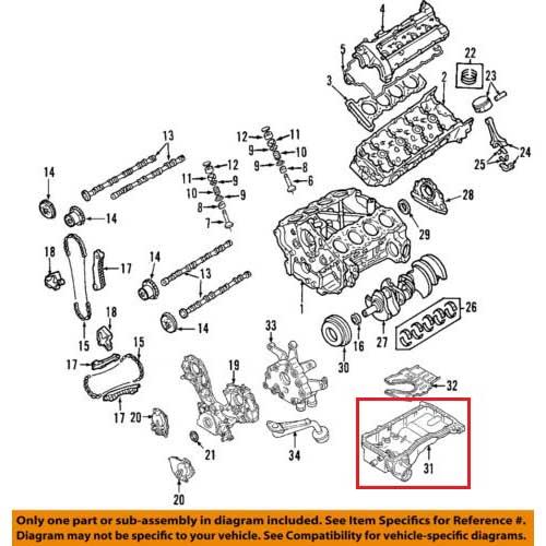 Nissan 11110-7s010 oil pan