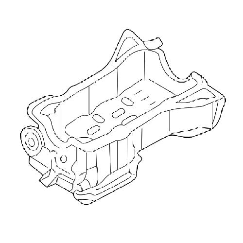 Nissan 11110-cg000 oil pan