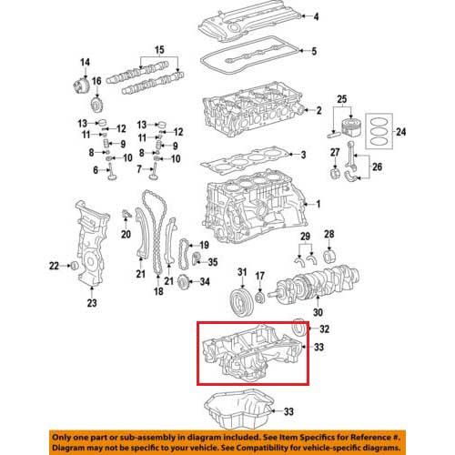 Nissan 11110-ed010 oil pan