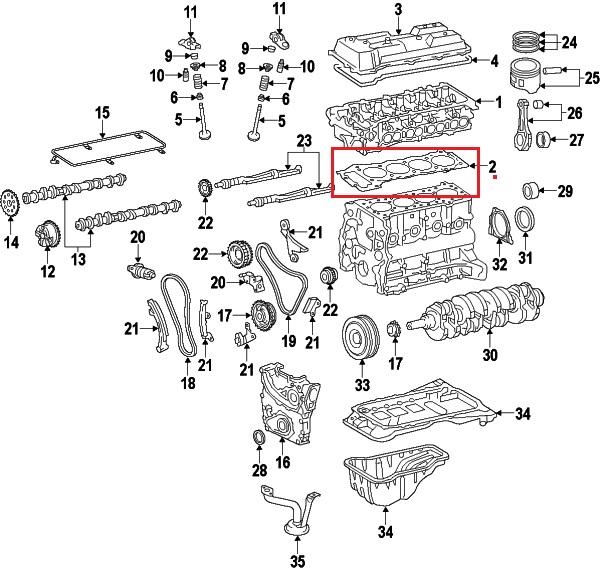 Toyota 11115-75051 cylinder head gasket